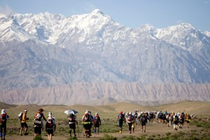 Gobi mountain line