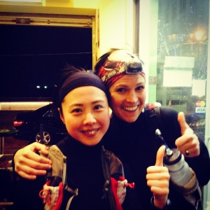 Me with the 'real' Agnes Cheng on a run a few days after the race