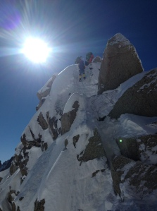 Training in Chamonix
