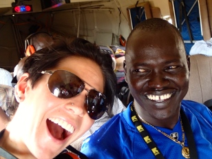 Selfie on the UN helicopter