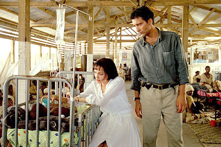 Photo stolen from Beyond Borders, a 2003 romantic drama about aid workers. Not exactly cinematic genius, buuuuut....