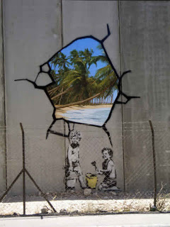 Another piece of wall art by Banksy