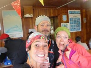 With Joel Meredith and Jess Baker at Rifugio Sella