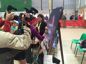 Signing the posters at the life bases is one of many 'rockstar' moments competitors will have during the race