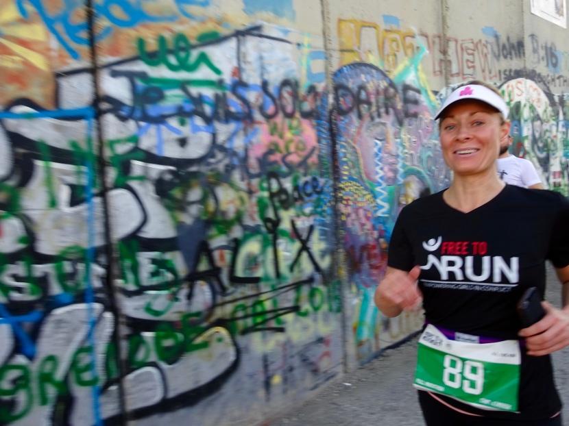 Running in the PalestineMarathon